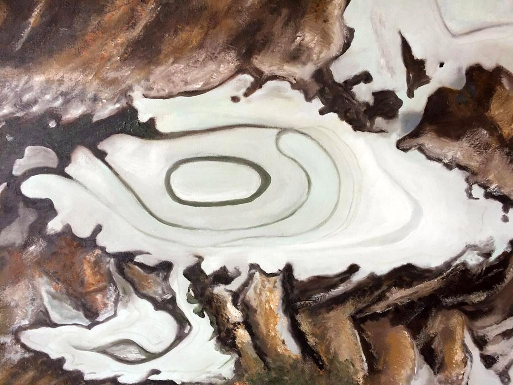 Tiny Dijstelbloem_Modder en ijs_olie op canvas_60x70