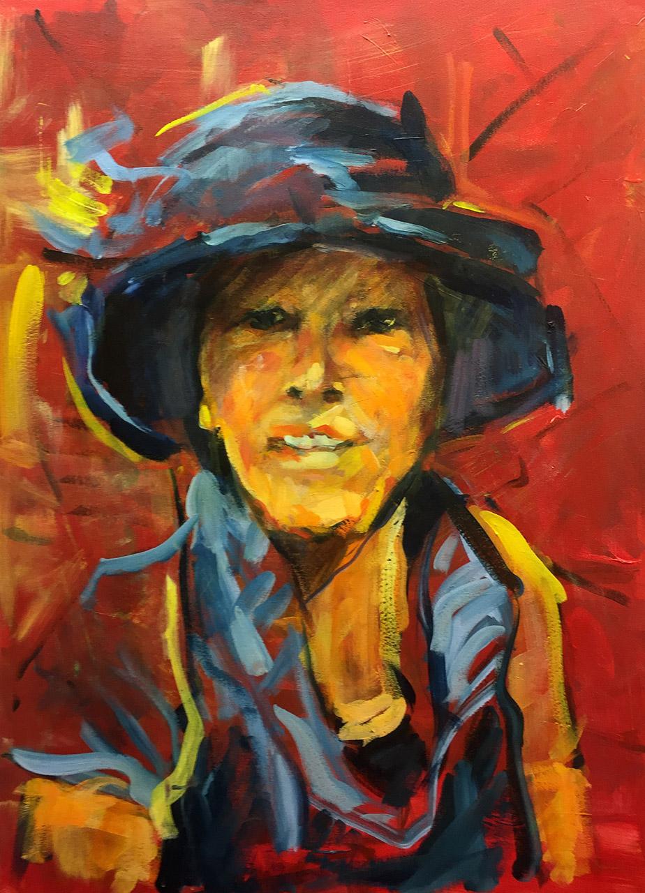 Ton Sommen_Joke Hoedenmuseum_acryl op linnen_60x80