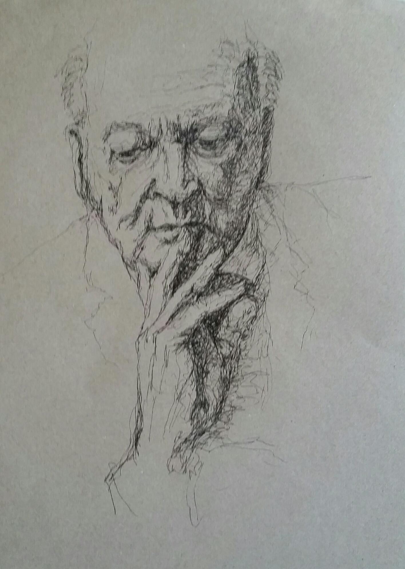 Yozay (José Kreveld-Soons)_Pijnzend_pen op papier_28x36
