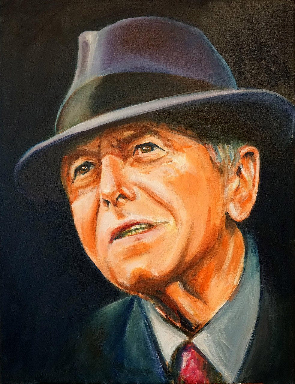 Hans Könemann_Leonard Cohen_acryl:olie op doek_60x80