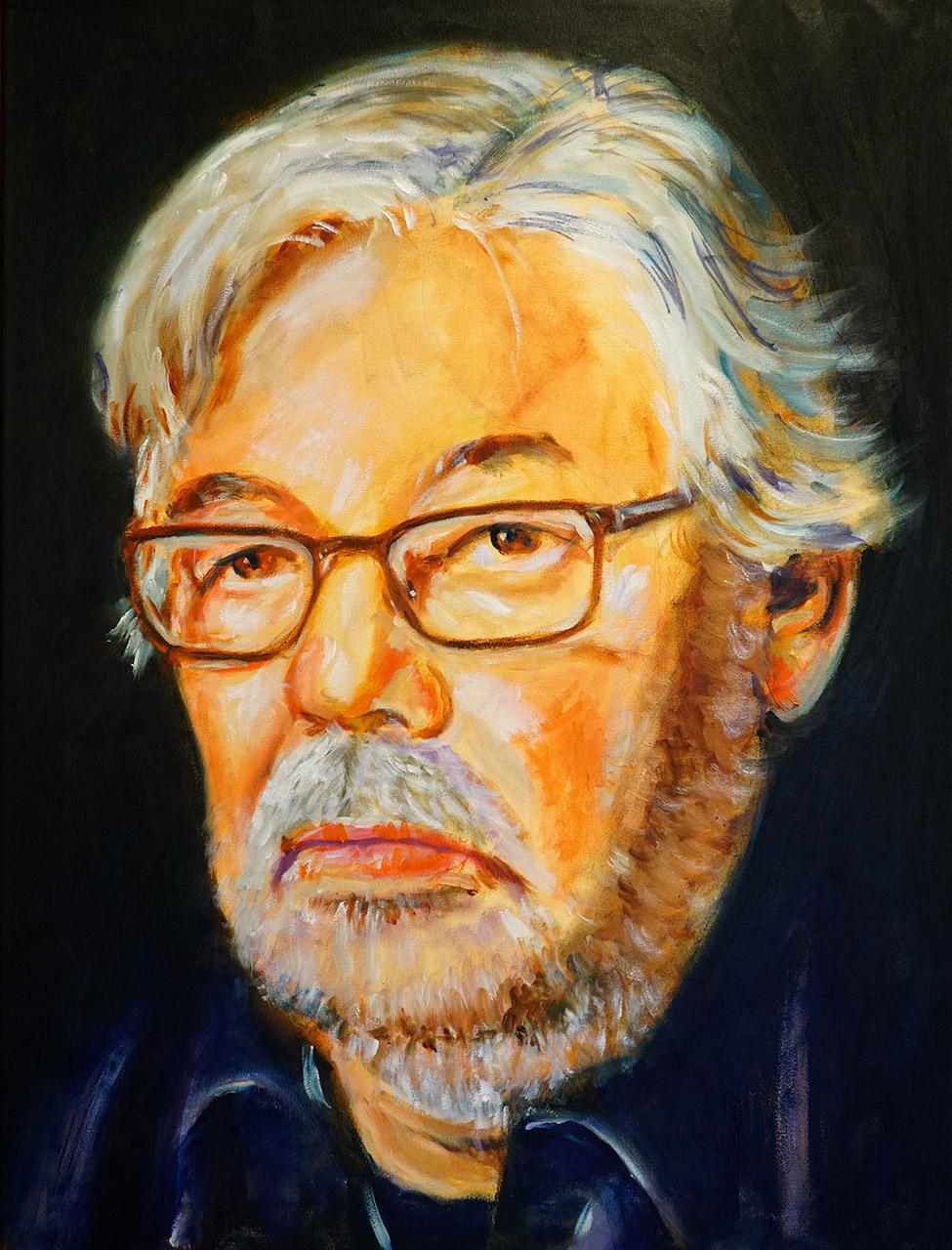 Hans Könemann_Maarten van Rossem_acryl/olie op doek_60x80