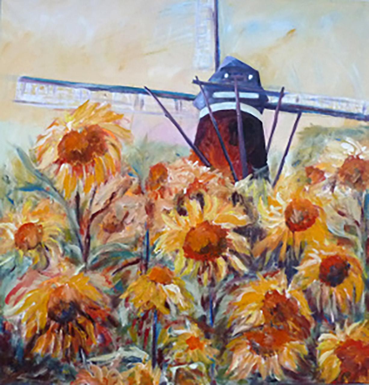 Rina Bekkers_Nuenen De Roosdonck_acryl op doek_80x80