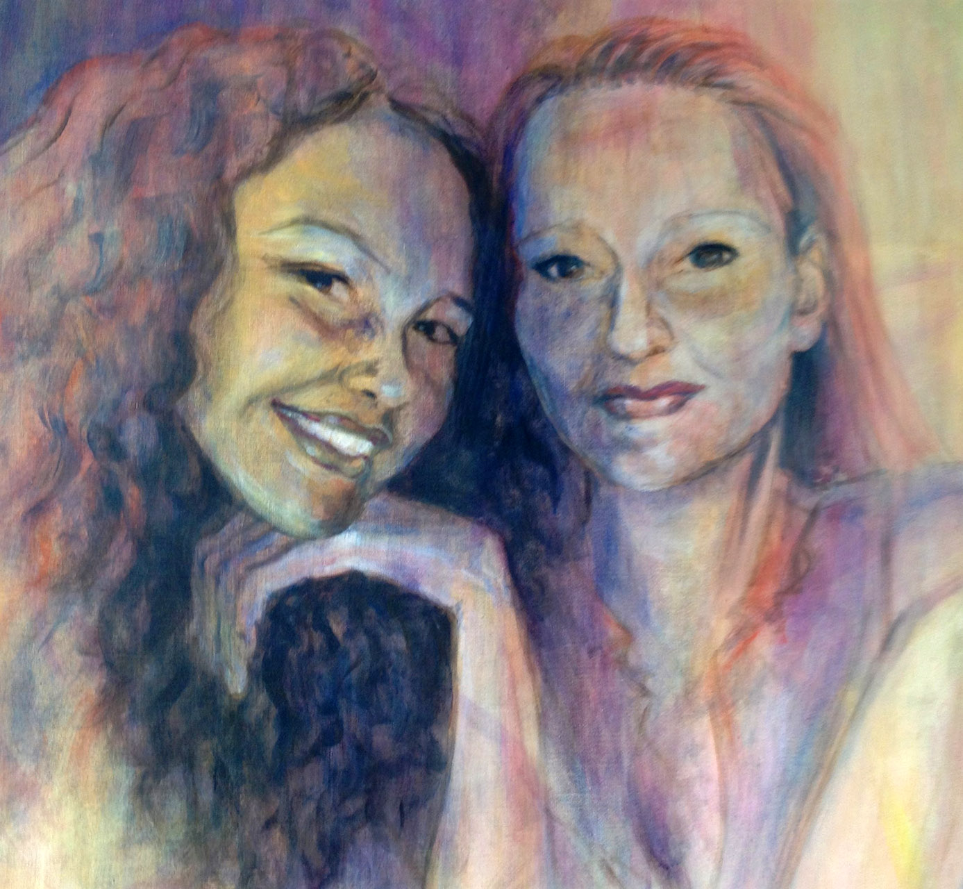Willie van Schie_Kamps_Daughters_acryl op doek_120x100